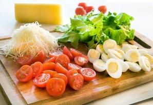Диетический салат с креветками - фото шаг 2