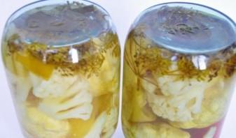 Маринованые патиссоны с капустой - фото шаг 4