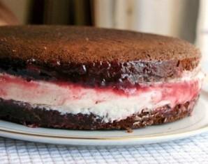 Шоколадно-творожный торт - фото шаг 15