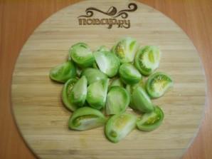 Салат из зеленых помидоров на зиму - фото шаг 2