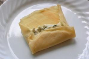 Маникотти из блинов с сырной начинкой - фото шаг 4
