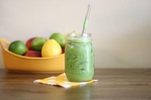 Зеленый коктейль с фасолью - фото шаг 4