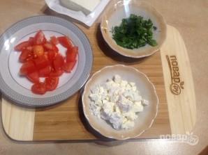 Салат с пастой, баклажанами и брынзой - фото шаг 6