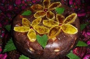 Шарлотка с какао и яблоками  - фото шаг 7