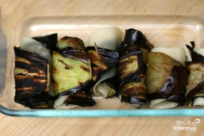 Роллатини из баклажанов с сыром - фото шаг 2