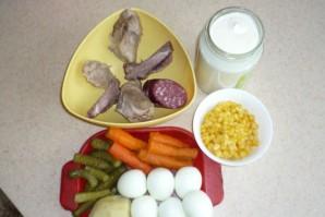 Салат Оливье с копченой колбасой - фото шаг 1