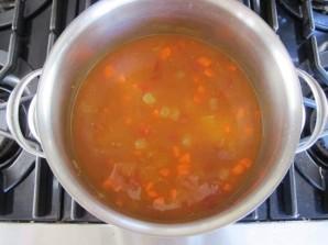 Суп с нутом и кус-кусом - фото шаг 4