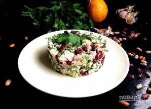 Салат сырно-фасолевый - фото шаг 3