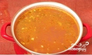 Суп фасолевый с копченостями - фото шаг 10