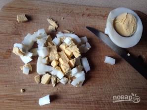 Салат из кальмаров с грибами - фото шаг 3