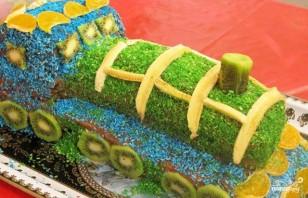 """Детский торт """"Паровозик"""" - фото шаг 6"""