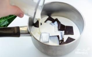 Шоколадный пирог с малиной - фото шаг 5