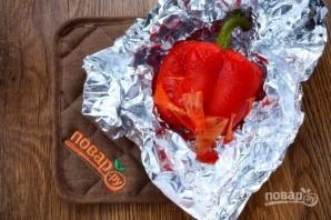 Хумус с запеченным перцем и вялеными томатами - фото шаг 2