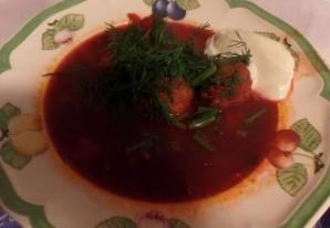 Свекольный суп с фрикадельками - фото шаг 7