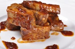 Свиные ребрышки в медовом соусе - фото шаг 7