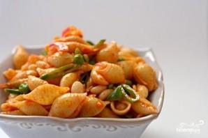 Салат из пасты, болгарского перца и фасоли - фото шаг 4