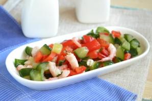 Постный салат с креветками - фото шаг 6