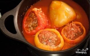 Перец, фаршированный мясом и рисом - фото шаг 8