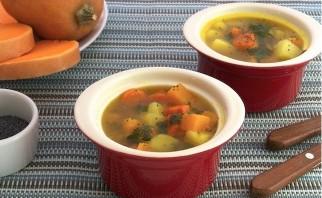 Вегетарианский тыквенный суп - фото шаг 4
