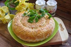 Витой пирог с творожно-сырной начинкой - фото шаг 8