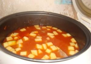 Суп из говядины в мультиварке - фото шаг 11