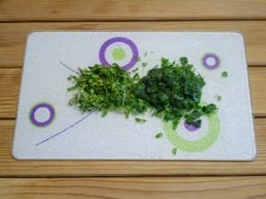 Блинчики с зеленью - фото шаг 5