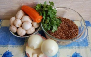 Постная гречка с грибами - фото шаг 1