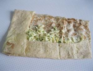 Лаваш с сыром, яйцом и зеленью - фото шаг 6