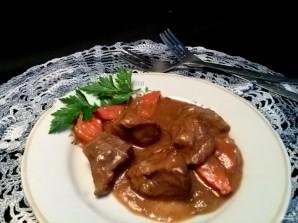 Мясо с овощами под соусом - фото шаг 5