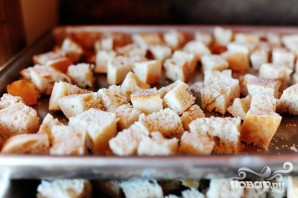 Жареный хлеб с устрицами и овощами - фото шаг 1