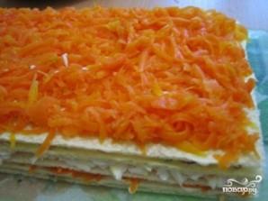 Закусочный торт из вафельных коржей - фото шаг 7