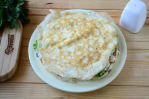 Белковый торт с куриной грудкой для сушки - фото шаг 11
