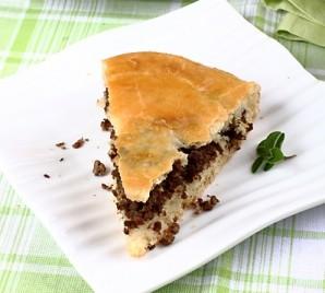 Мясной пирог из дрожжевого теста - фото шаг 8