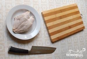 Салат с курицей и фасолью - фото шаг 1