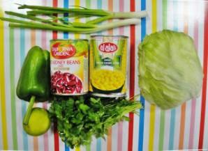 Мексиканский салат с фасолью - фото шаг 1