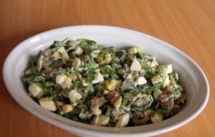 Простой салат с сыром - фото шаг 5