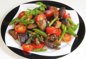 Салат с помидорами и грибами - фото шаг 4