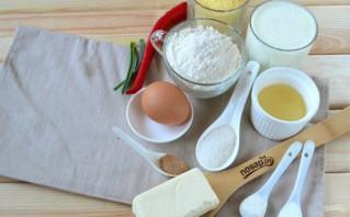 Кукурузный хлеб с маслом и яйцом - фото шаг 1