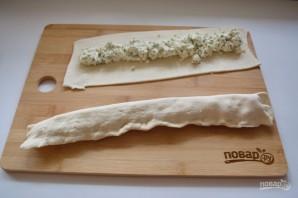 Витой пирог с творожно-сырной начинкой - фото шаг 7