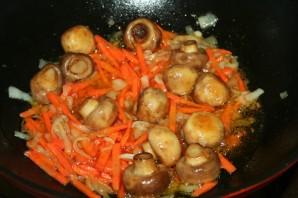 Вегетарианский плов с грибами - фото шаг 5