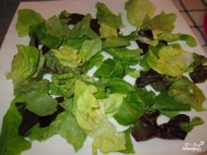 Салат с инжиром и козьим сыром - фото шаг 3