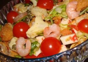 Простой салат с каперсами - фото шаг 8