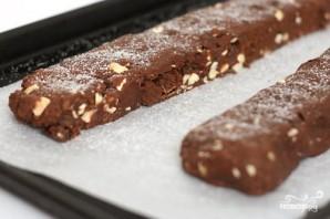 Шоколадные бискотти с миндалем - фото шаг 3