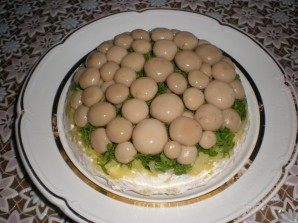 """Салат """"Лукошко с грибами"""" - фото шаг 5"""