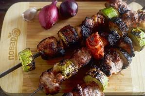 Шашлык с овощами в горчичном маринаде - фото шаг 6