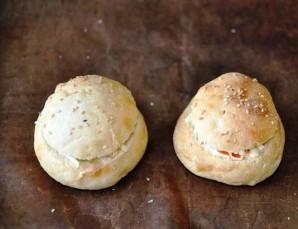 Салат в заварных булочках - фото шаг 5