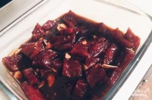 Лапша со свининой в соусе терияки - фото шаг 1