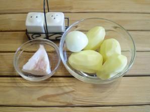 Картошка с салом на сковороде - фото шаг 1