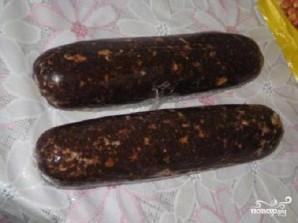 Шоколадная салями - фото шаг 5