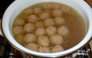 Суп с фрикадельками и картошкой - фото шаг 4